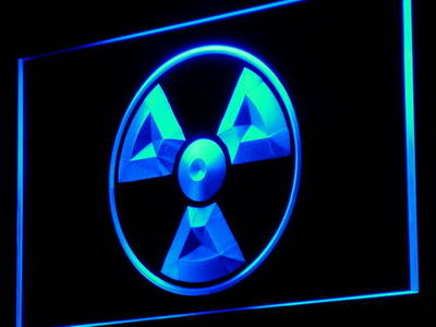 i922 Radioactive Danger Science Display Light Sign On/Off Swtich 20+ Colors 5 Sizes