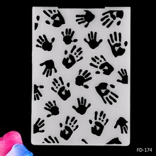 Small Handprints Plastic Embossing Folder for Scrapbooking Paper Craft DIY Card Making Decoration Supplies стоимость