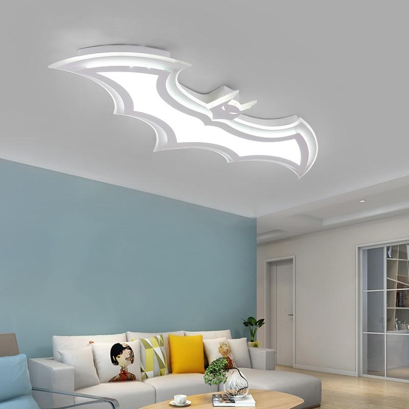 Image 5 - Batman led chandeliers childrens room bedroom AC85   265V led chandelier acrylic modern room is childroom-in Chandeliers from Lights & Lighting