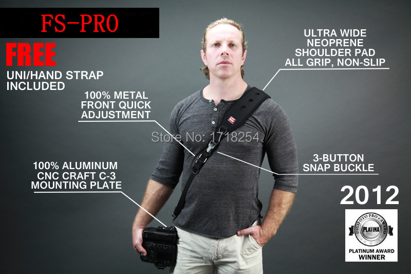 CARRY SPEED FS-PRO Camera Sling Shoulder Strap quick rapid for DSLR cameras 2013 series speed line pro