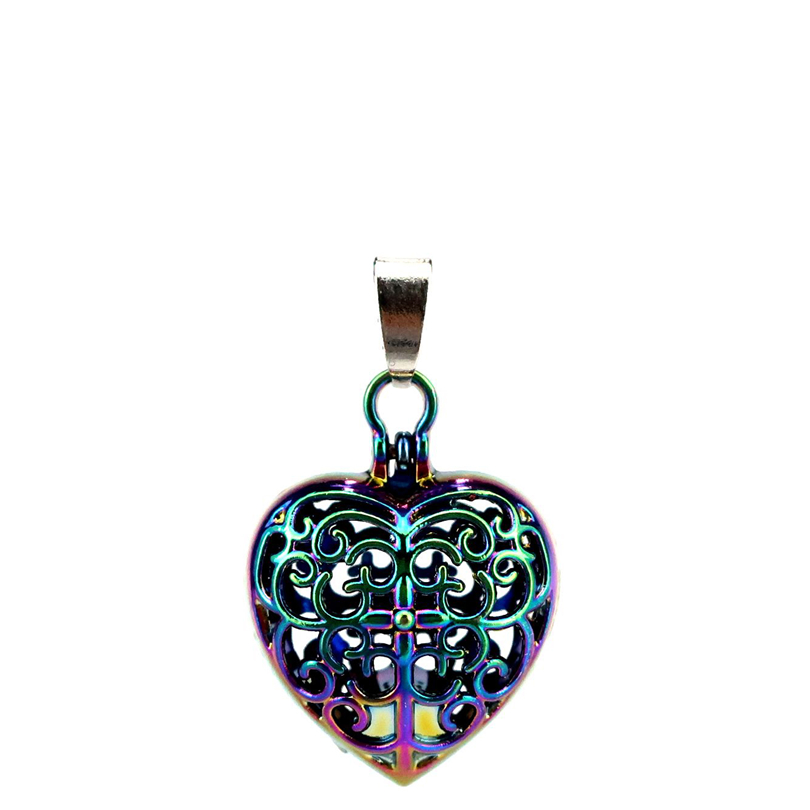 Reasonable C787 5pcs/lot Rainbow Color Heart Cross Magnet Pearl Beads Cage Locket Pendant Pearl Locket Fairytale Party A Great Variety Of Goods Jewelry & Accessories Necklaces & Pendants