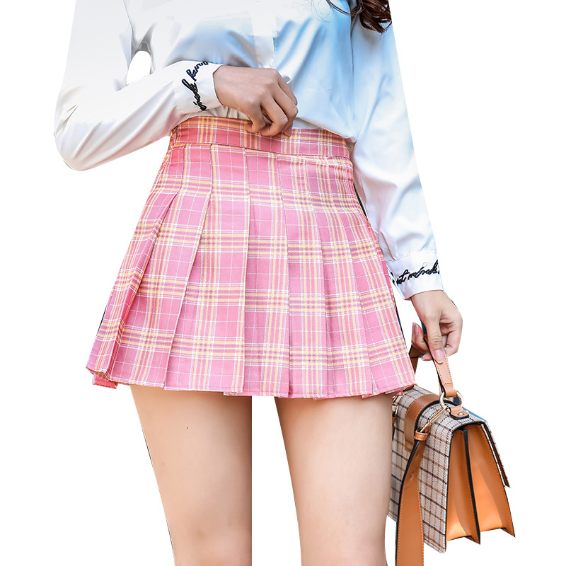 Short Plaid High Waisted Skirt 2019 Winter New Fashion
