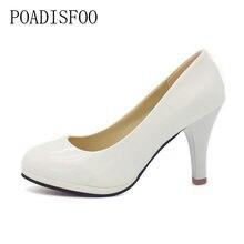 7172ef649 POADISFOO обувь Новинка 2017; женская обувь 3 цвета черный, белый цвет  красного цвета из