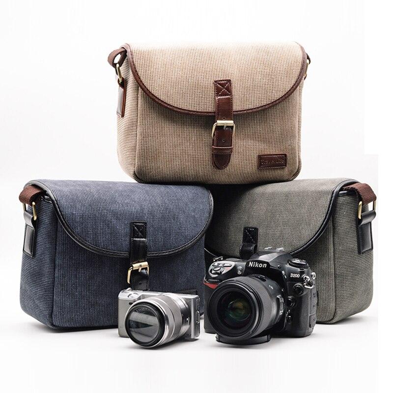 4af913dd6ae6 Roadfisher Waterproof Vintage Camera Shoulder Carry Travel Bag Insert For  Sony Canon Pentax Nikon 1 DSLR