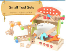 New Wooden Toy Small Tool Sets The simulation toolkit Free Shipping