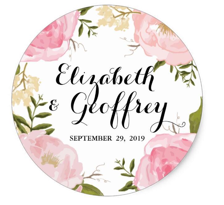 1 5inch Modern Vintage Pink Floral font b Wedding b font font b Custom b font
