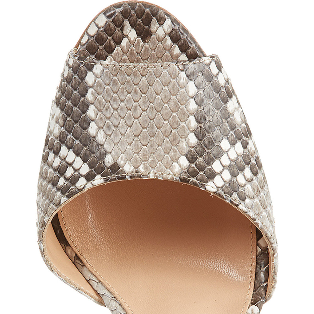 7a9f8722cca Fashion Snakeskin Grey Pleather Peep Toe 10cm High Heels Pumps Casual Brand  Shoes Dress&Party&Office Shoes Women Nancyjayjii 11-in Women's Pumps from  ...