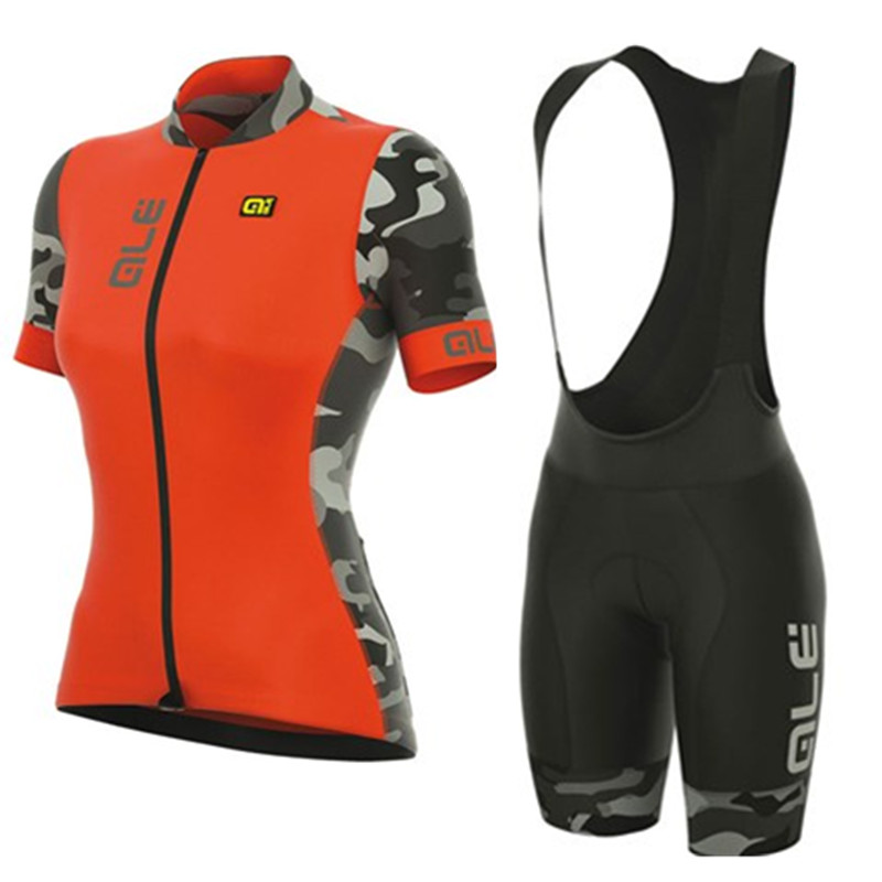 Ale 2017 Women Cycling Jersey Bib Shorts Summer Breathable Short Sleeve Bike Clothing Quick Dry Roupa Ciclismo Maillot #2