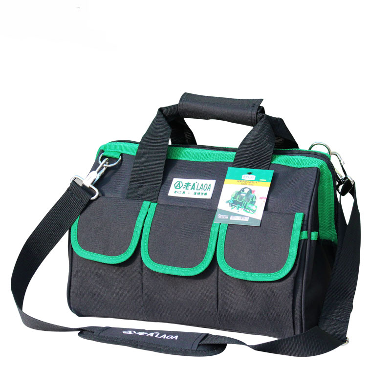 1pcs LAOA 600D Tool bag Electrician Large capacity Repair tool kit water proof bags storage for Electricians Tools 121416 tool bags 600d close top wide mouth electrician bags small bags