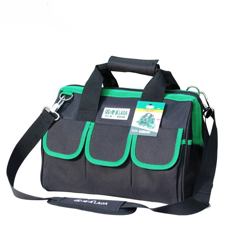 1 db LAOA 600D szerszámtáska Villanyszerelő Nagy kapacitású javítószerszám készlet vízálló zsákok tárolása Villanyszerelőkhöz