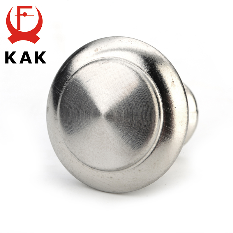 KAK Diameter 24mm 28mm Zinc Satin Nickel Cabinet Pull Cupboard Drawer Handle Knobs Wardrobe Handle With Screw Furniture HardwareKAK Diameter 24mm 28mm Zinc Satin Nickel Cabinet Pull Cupboard Drawer Handle Knobs Wardrobe Handle With Screw Furniture Hardware