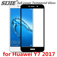 full cover Tempered Glass for Huawei Y7 prime enjoy 7 plus 7PLUS 2017 5.5 inch Screen Protective display cases frame all edge