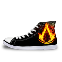 Customized Fashion Men's High-top Canvas Shoes Cool Vikings