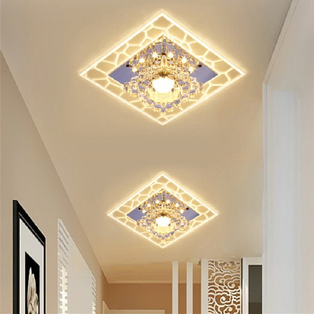 Crystal Ceiling Lamp Lighting Modern Lamparas De Techo LED Ceiling Light 3W/5W Aisle Corridor For Entrance Living Room Bedroom crystal flower pendant light modern lighting living room lamp bedroom lamp aisle lighting