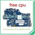 NEW75 LA-5912P MBNA102001 MB. NA102.001 Для acer aspire 5551 emachines E640 материнская плата DDR3 HD4200 бесплатная cpu гарантия 60 дней
