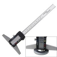 1pc 0 150mm 6 Metric Imperial Digital Depth Vernier Caliper Micrometer Stainless Steel Electric Digital Depth Gauge