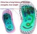 Ponto de acupuntura pés massageador de cuidados de saúde perda de Peso pés cuidados com os pés calçados cuidados chinelo pontos meridianos Remover esporões ósseos