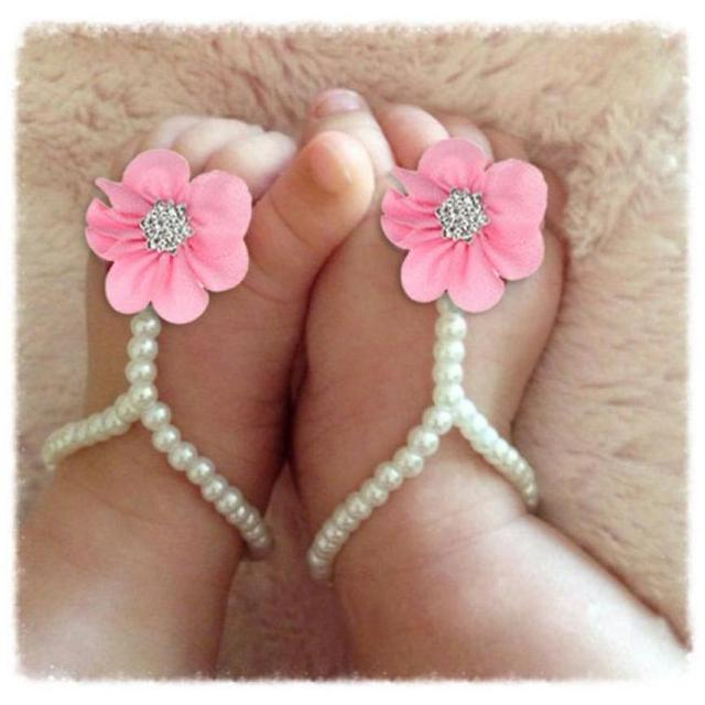 Recién Verano Mn8n0w Bebé Flor Descalzas Calzado Playa Nacido Sandalias TJ3clFK1