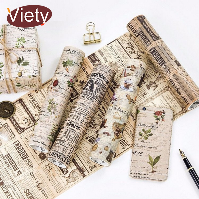 20cm*5m Vintage newspaper Beautiful flowers washi tape DIY decoration scrapbooking planner masking tape adhesive tape20cm*5m Vintage newspaper Beautiful flowers washi tape DIY decoration scrapbooking planner masking tape adhesive tape