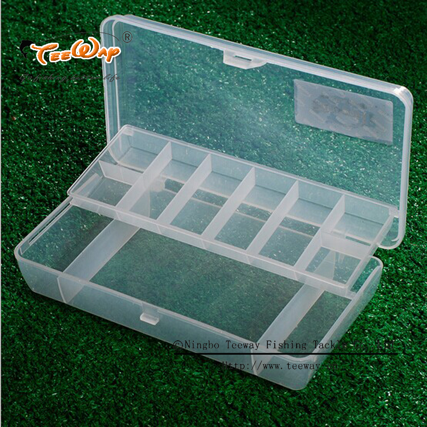 2 Layers Fishing Tackle Box Small Fishing Tools Container Organizer Case