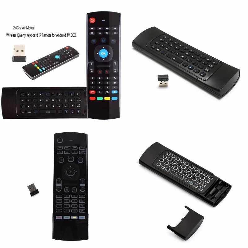 MX3 MX3-L Backlit Air Mouse T3 Smart Remote Control 2 4G RF Wireless  Keyboard For X96 Tx3 Mini A95X H96 Pro Android TV Box