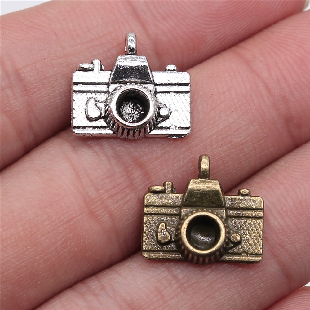 20pcs Camera Charms bronze Tone Camera Shape Pendant Beads 14X13mm