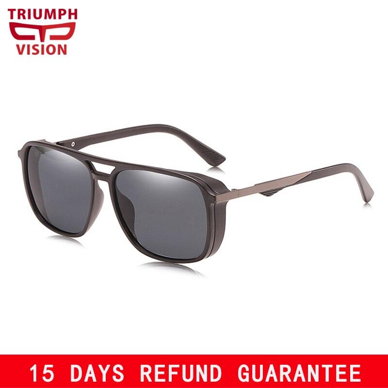 TRIUMPH VISÃO Polarizada óculos de Sol Dos Homens do Estilo do Steampunk  Shades Eyewear Óculos de ed8b5c68dc