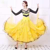Customized High Quality Women Ballroom Competition Dance Dress Modern Waltz Tango Standard Dress