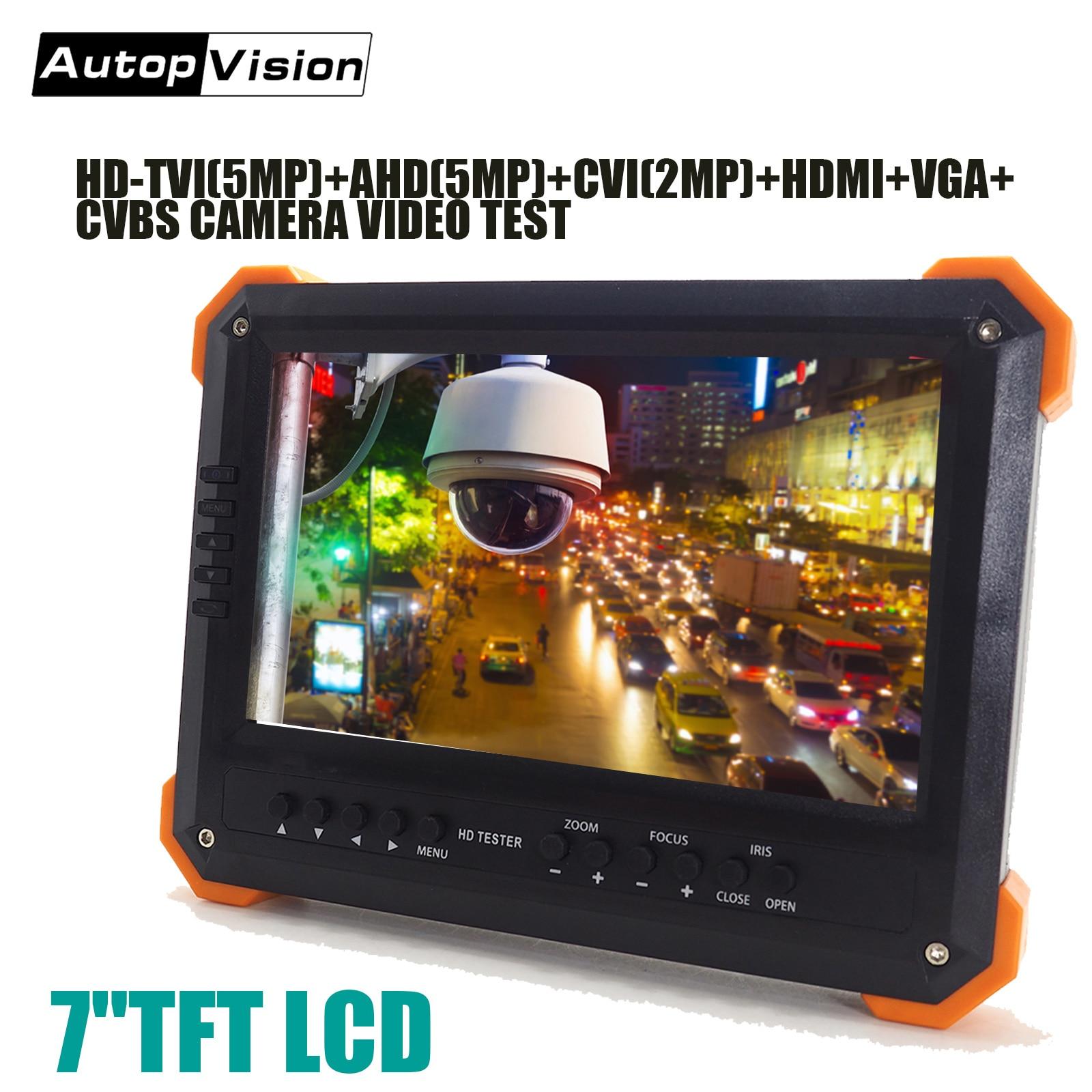 X41TAC NEW Update Portable CCTV Security Camera Monitor TVI AHD HDMI VGA CVBS Camera CCTV Tester 7