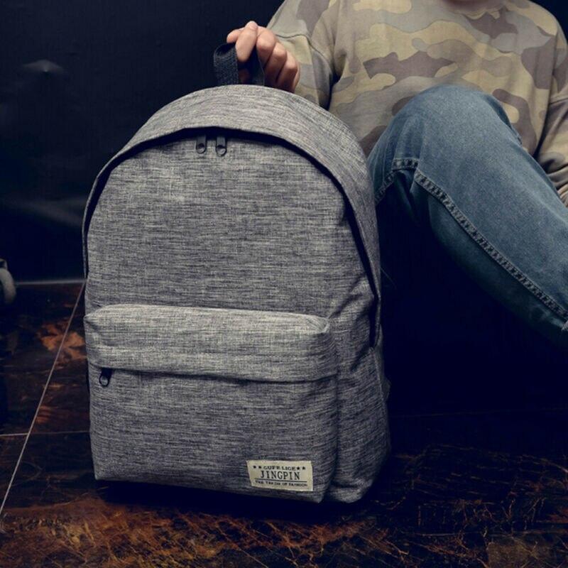Men Storage Bags Schools Women Travel Storage Bags Canvas Rucksack Camping Hiking School Bag Pack Clothing Organization