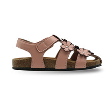 Summer Girl's Flowers Close Toe Cork Sandals