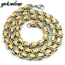 Hombres collar de la joyería de la cadena de la vendimia 2016 nueva bizantina griega clave collar para hombre de acero inoxidable 60 cm * 8mm Regalo de navidad WN513