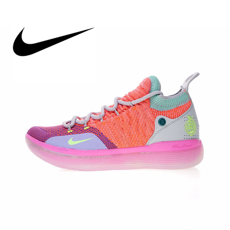 Original Nike Zoom KD11 'EYBL' Men's Basketball Shoes Sport Outdoor Sneakers Athletic Designer Footwear 2018 New AO2604 600