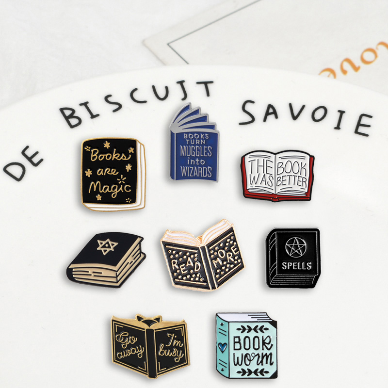 Badges Brooches Books Jewelry Lapel Pins Teacher Magic Student Denim Enamel Learning-Gifts