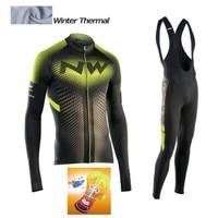 Tour De NW 2018 Long Sleeve Winter Thermal Fleece Cycling Jersey Warm Winter Bike Cycling Clothing
