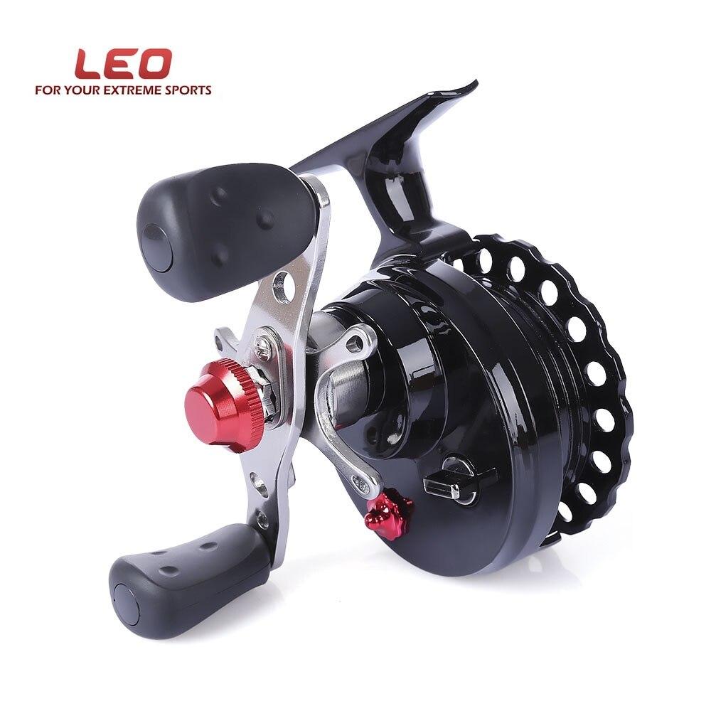 Venta caliente LEO DWS60 4 + 1BB 2,6: 1 65mm carrete de pesca de la mosca de la rueda de alto pie carretes de pesca izquierda/mano derecha de carrete de la pesca de las ruedas