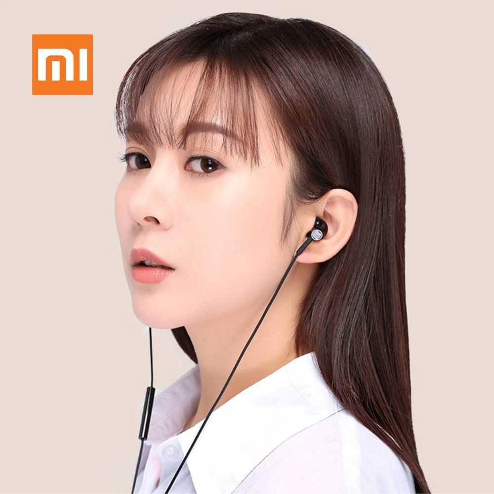 Oryginalny Xiaomi pół douszne słuchawki USB typu C przewód sterowania słuchawki o wysokiej rozdzielczości Mijia Audio mikrofon podwójny jednostka sport zestaw słuchawkowy mikrofonem