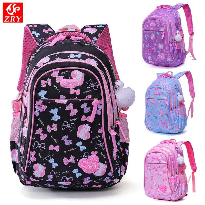talla 40 a9a7a 724a1 € 18.09 51% de DESCUENTO|Mochilas escolares infantiles para niñas princesa  Escuela Primaria mochilas escolares ortopédicas bolsas de libros ...