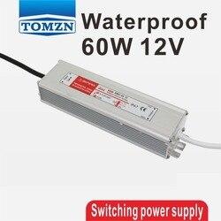 60W 12V 5A wodoodporny zewnętrzny przełączanie pojedynczego wyjścia zasilacz smps AC na DC