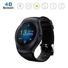 KS2 Bluetooth 4,0 Smart Uhr MTK2502C IPS runden bildschirm Unterstützung TF Sim-karte GSM Siri Fitness Tracker Smartwatch für Android IOS