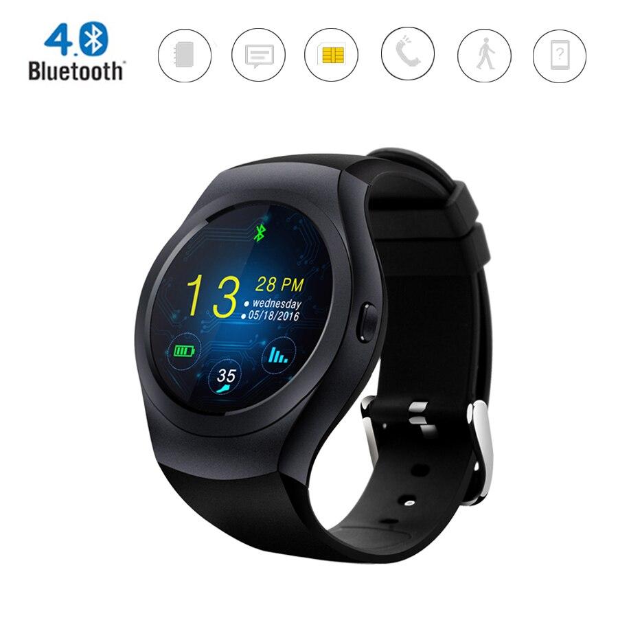 KS2 Bluetooth 4 0 Smart font b Watch b font MTK2502C IPS round screen Support TF