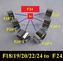F18/19/20/22/24 brass chrome faucet adapter change to F24 female thread