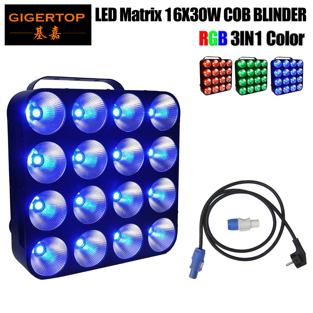 Freeshipping Flexible LED Matrix 16*30W Display Full Color RGB Screen 3in1 Audience Led Blinder Light DMX 512 Control 4x4 Eyes