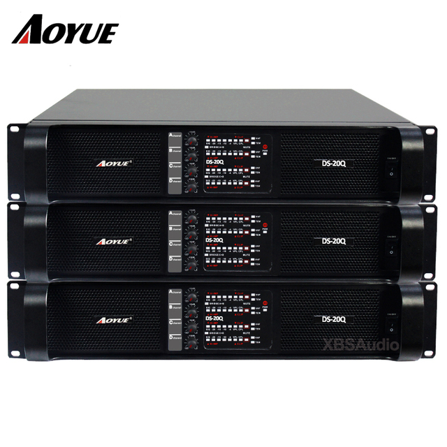 US $930 0 | 4 fp channel 20000q line array professional 4*2200w dj sound  power amplifier line amps -in Amplifier from Consumer Electronics on
