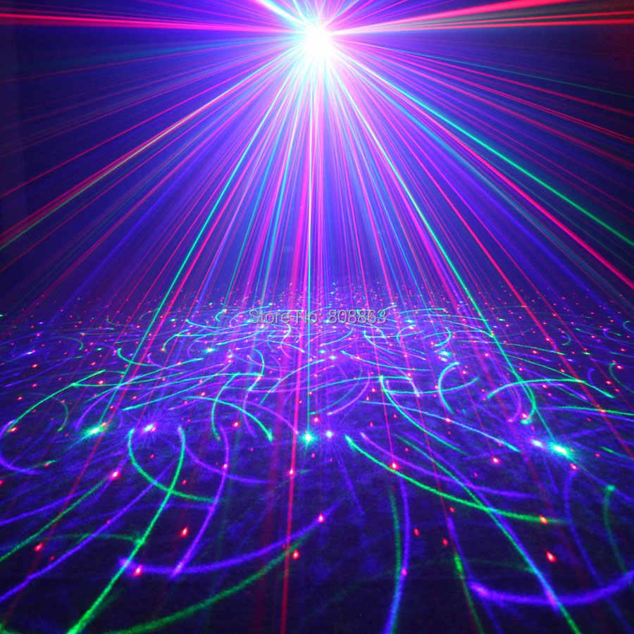 EHINY MINI RGB 2 Lente Laser 64 Patterns Proiettore Club Partito della Famiglia Bar Della Discoteca del DJ Della Festa di Natale di Ballo Fase di Illuminazione luci N8T159