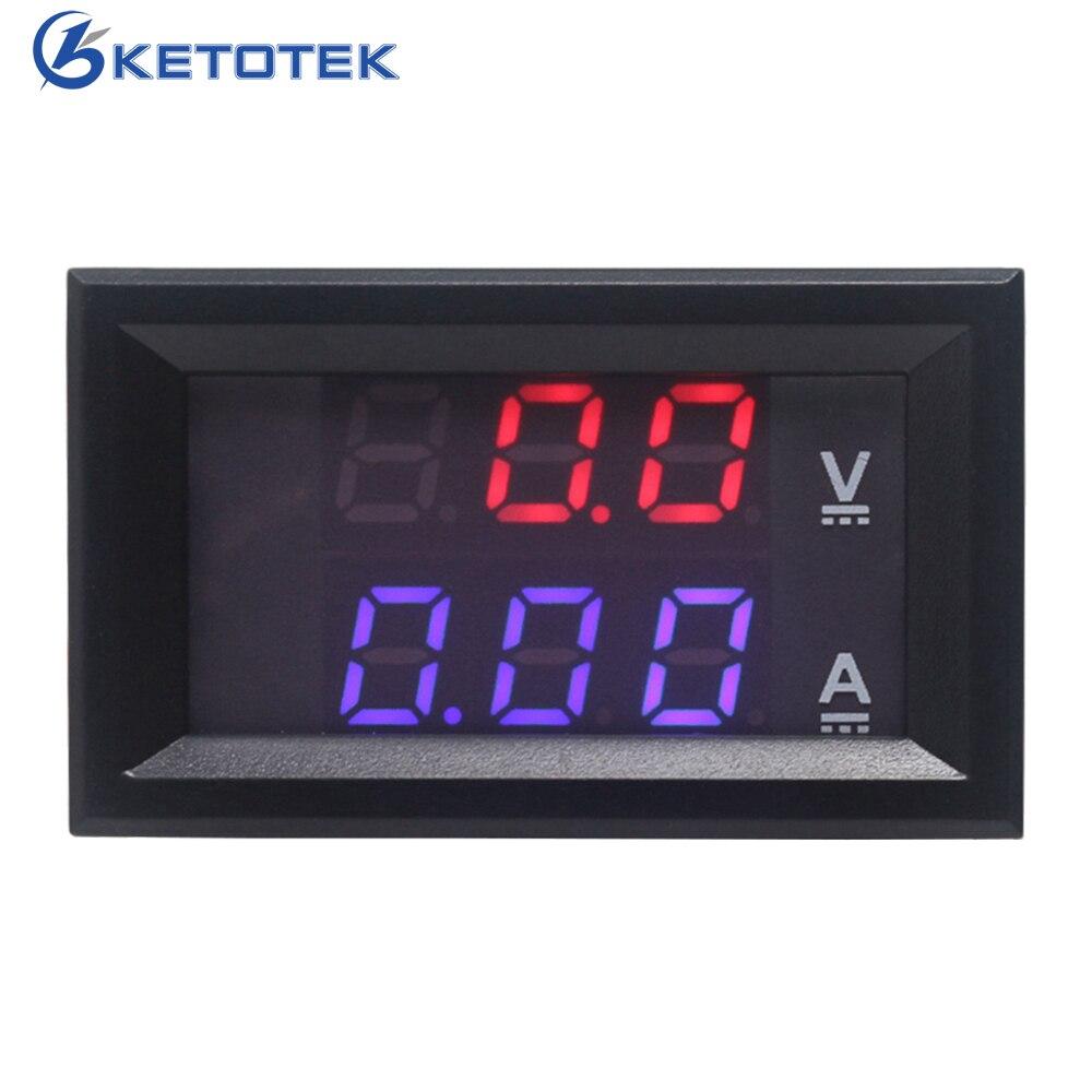 DC 0-100 V/10A motocicleta DC amperímetro voltímetro Digital Amp medidor de voltímetro Monitor de batería