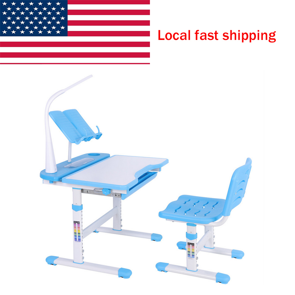 Excellent Us 78 52 20 Off Metal Adjustable Height Childrens Desk And Comfortable Chair Set With Lamp Kids Study Table Childrens Desk And Chair Set In Tool Forskolin Free Trial Chair Design Images Forskolin Free Trialorg