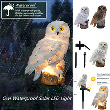 ZINUO 2pcs LED Garden Lights Solar Night Owl Shape Lights Solar-Powered Lawn Lamp Home Garden Creative Solar Lamps dropshipping mabor 2pcs 2w led solar lamps lighting powered pull wire cord switch lights outdoor