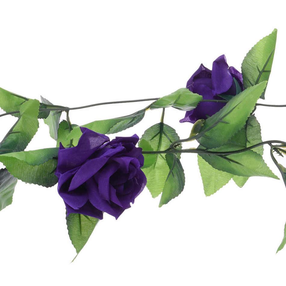 Schöne Rose Blume Künstliche Gefälschte Seide Rose Ivy Vine Hänge Garland Home Hochzeit Decor party Home Garten Dekoration 8 Farbe