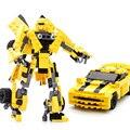 WMX 8711 221 pcs Filme da Série Modelo de Blocos de Construção de Brinquedos Robô 2 Em 1 Veículo Carro Esportivo Compatíveis Com as principais marcas blocos